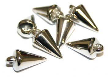 90pcs x 18mm*9mm spike beads - spike charm -- Finish: rhodium